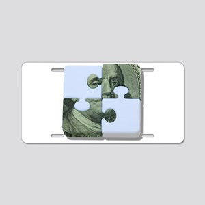 MoneyPuzzle101310 Aluminum License Plate
