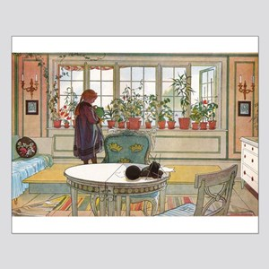 Flowers On The Windowsill, Small Poster