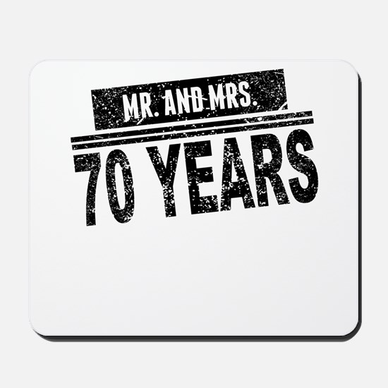 Mr. And Mrs. 70 Years Mousepad