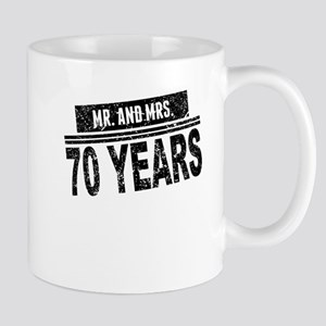 Mr. And Mrs. 70 Years Mugs