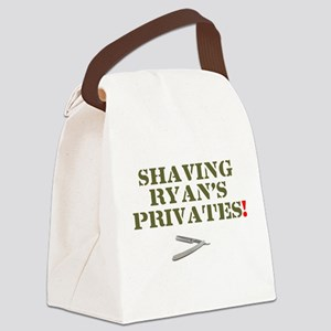 SHAVING RYANS PRIVATES! Canvas Lunch Bag