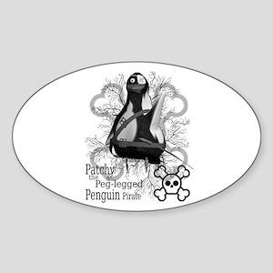 Patchy Oval Sticker