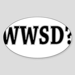 Black WWSD Sticker (Oval)