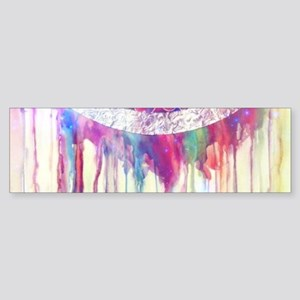Urban Abstract Art Painting Illustr Bumper Sticker