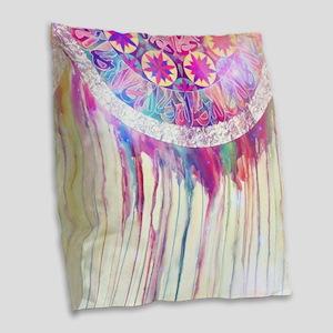 Urban Abstract Art Painting Il Burlap Throw Pillow