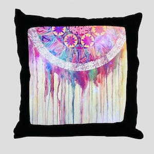 Urban Abstract Art Painting Illustrat Throw Pillow