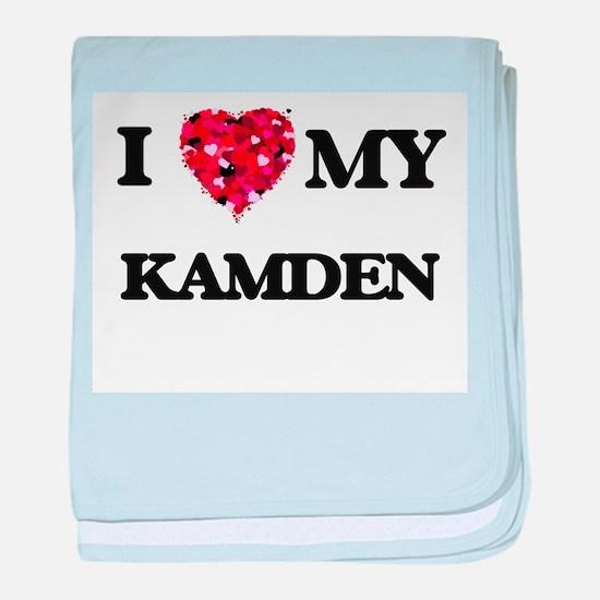 I love my Kamden baby blanket