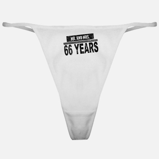 Mr. And Mrs. 66 Years Classic Thong
