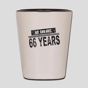 Mr. And Mrs. 66 Years Shot Glass