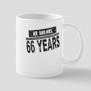 Mr. And Mrs. 66 Years Mugs