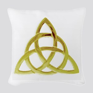 Triquetra, Charmed, Book of Sh Woven Throw Pillow