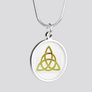 Triquetra, Charmed, Book of Silver Round Necklace