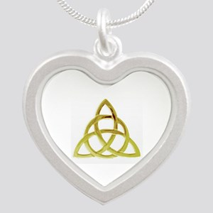 Triquetra, Charmed, Book of Silver Heart Necklace