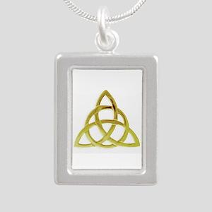Triquetra, Charmed, Book Silver Portrait Necklace