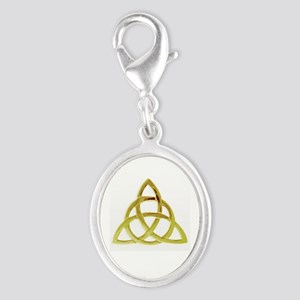 Triquetra, Charmed, Book of Sha Silver Oval Charm
