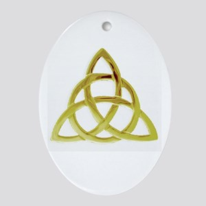 Triquetra, Charmed, Book of Shadow Ornament (Oval)
