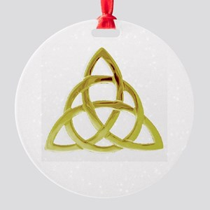 Triquetra, Charmed, Book of Shadows Round Ornament