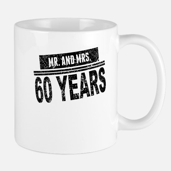 Mr. And Mrs. 60 Years Mugs