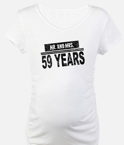 Mr. And Mrs. 59 Years Shirt