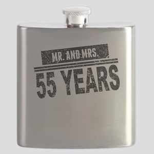Mr. And Mrs. 55 Years Flask