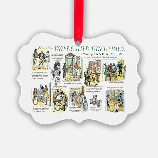 Scenes from Pride and Prejudice Ornament