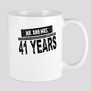 Mr. And Mrs. 41 Years Mugs