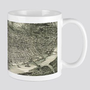 Vintage Pictorial Map of Cincinnati (1900) Mugs