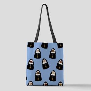 nuns-cute_9x12 Polyester Tote Bag