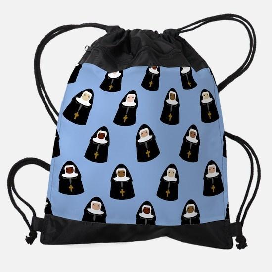 nuns-cute_9x12.png Drawstring Bag
