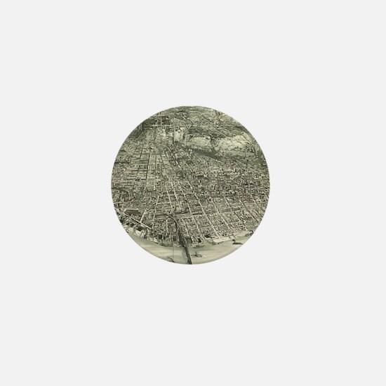 Vintage Pictorial Map of Cincinnati (1 Mini Button
