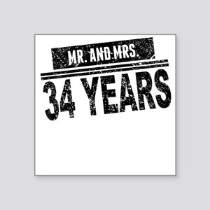 Mr. And Mrs. 34 Years Sticker