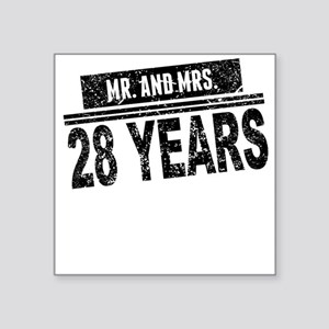Mr. And Mrs. 28 Years Sticker