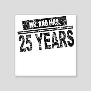 Mr. And Mrs. 25 Years Sticker