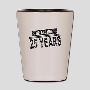 Mr. And Mrs. 25 Years Shot Glass