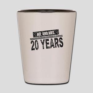 Mr. And Mrs. 20 Years Shot Glass