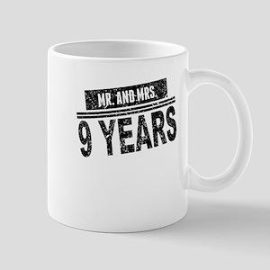 Mr. And Mrs. 9 Years Mugs