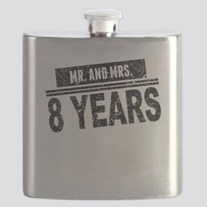 Mr. And Mrs. 8 Years Flask