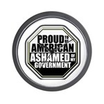 Proud to be American Wall Clock