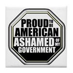 Proud to be American Tile Coaster