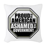 Proud to be American Woven Throw Pillow