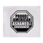 Proud to be American Throw Blanket