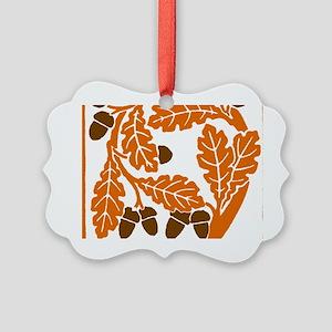 Giant Nouveau style Acorn Picture Ornament