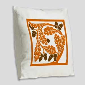 Giant Nouveau style Acorn Burlap Throw Pillow