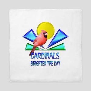 Cardinals Brighten the Day Queen Duvet