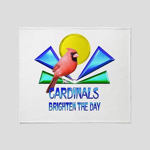 Cardinals Brighten the Day Throw Blanket