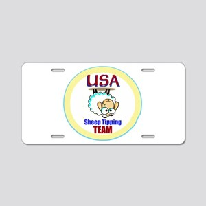 USA Sheep Tippers Aluminum License Plate