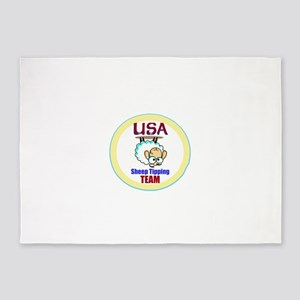 USA Sheep Tippers 5'x7'Area Rug