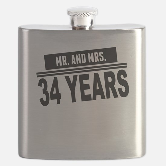 Mr. And Mrs. 34 Years Flask