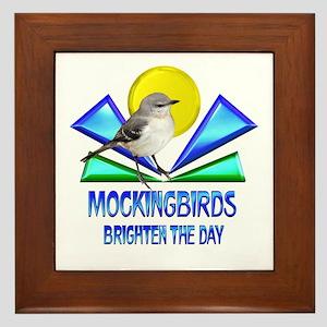 Mockingbirds Brighten the Day Framed Tile