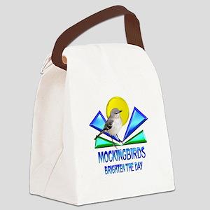 Mockingbirds Brighten the Day Canvas Lunch Bag